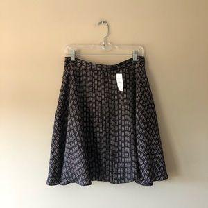 LOFT Factory printed flared skirt